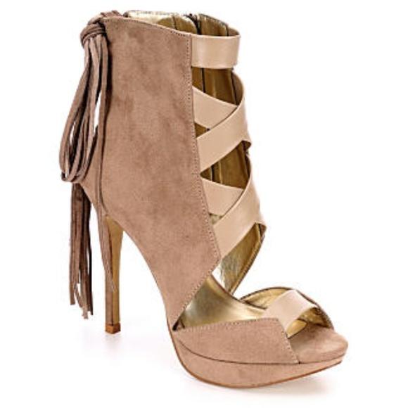 LFL Lust for Life Reaction Stiletto Fringe Sandal